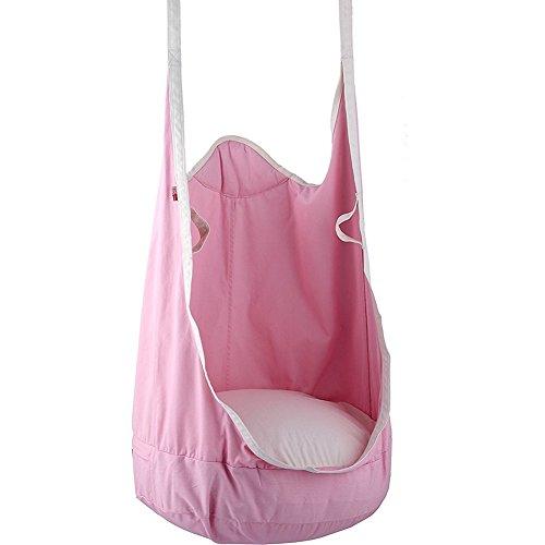 Homeself opklapbare pod schommelstoel, buiten en binnen hangstoel voor kinderen roze