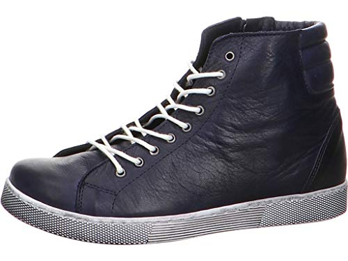 Andrea Conti Damen 0347843 Hohe Sneaker, Blau (Dunkelblau 017), 39 EU