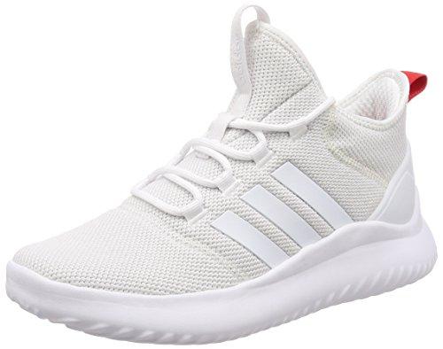 adidas Cloudfoam Ultimate Bball, Sneaker a Collo Alto Uomo, Bianco (Footwear White/Core Red Footwear White/Core Red), 44 EU