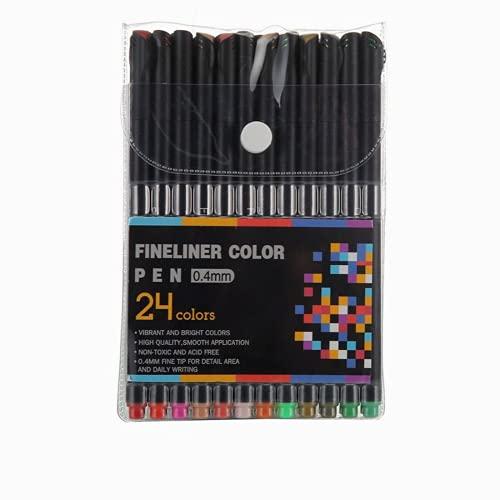 Rotulador de color fino, 12/24/36/48/60 bolígrafos de punta fina de color único, puntas de fieltro de 0,4 mm marcador de punto poroso para volver
