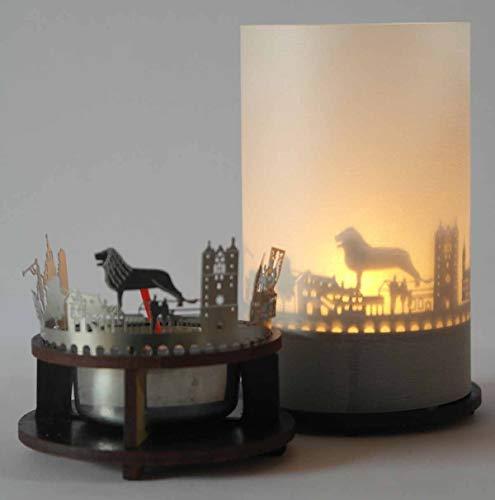 13gramm Braunschweig-Skyline Windlicht Schattenspiel Premium Geschenk-Box Souvenir, inkl. Kerzenhalter, Kerze, Projektionsschirm und Teelicht