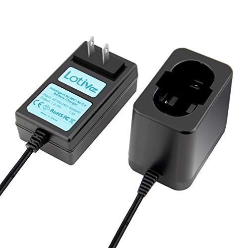 Lotive 1.2V-18V Battery Charger Compatible with Bosch Ni-MH/Ni-CD 7.2V 9.6V 12V 14.4V 18V Pod Style Batteries(NOT for Li-ion Battery)