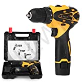 ALLWIN Multi-Function Drill Plastic Cordless Drill Screw Driver 10mm with Batteries & Two Speed...