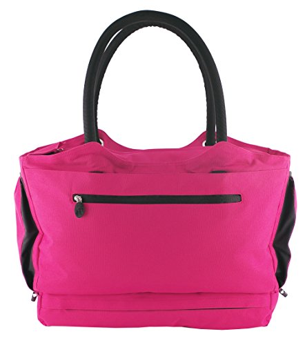 CoolBag Gen 2 Locking Anti-Theft Travel Tote With Insulated Cooler Compartment (Paradise Island Pink)