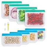 Reusable Food Storage Bags, 8 Pack Reusable Freezer...