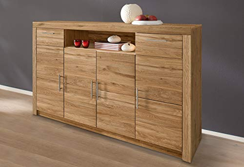 Möbeldesign Team 2000 Highboard Anrichte Kommode Sideboard wildeiche teilmassiv, geölt 3442-10
