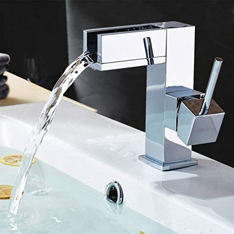 BMY Moderne Mode High-End-Wasserfall-Waschtischmischer Kreative heie und kalte Wasserhahn (Gre  A)