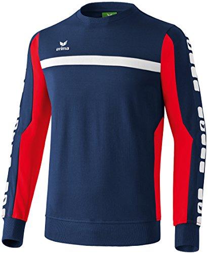 Erima Herren Classic 5-C Sweatshirt, new navy/rot, M