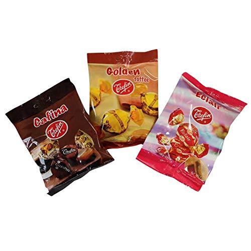 ベルギートレファン トフィー 3種セット(カフィナ、ゴールデンタフィ、エクレアタフィ) タフィー キャラメル バターキャンディ Trefin