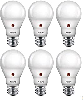 Philips LED Dusk-to-Dawn A19 Frosted Light Bulb:...