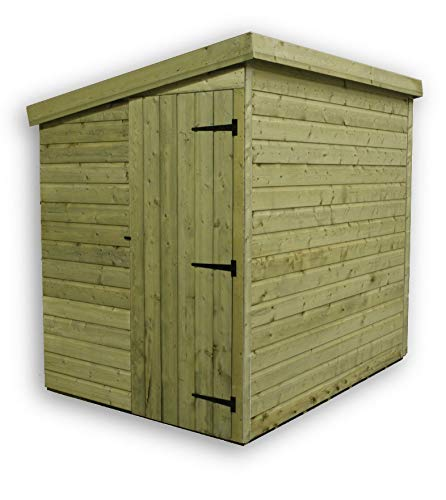 EMS Retail 8X6 GARDEN SHED SHIPLAP PENT TANALISED PRESSURE TREATED SIDE DOOR