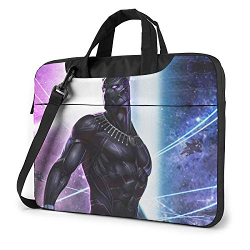 Superhero Black Panther Laptop Sleeve Case Handheld One Shoulder Shockproof Oxford Protective Case/Notebook Computer Pocket Case/Tablet Briefcase Carrying Bag Compatible-13 inch