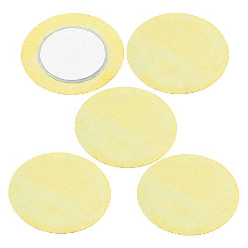 Sourcingmap a15043000ux0209 Buzzer Druksensor Luidspreker DIY Piezo Disc 27mm 5pcs, Gold Tone