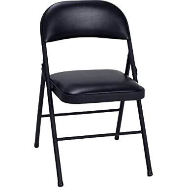 Cosco Vinyl Folding Chair Black (4-pack)