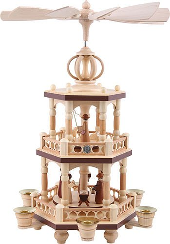 2-tier christmas German Christmas Pyramid - The Christmas Story - 40 cm / 16 inch - Müller Kleinkunst