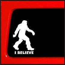 Sasquatch stick figure I Believe bigfoot Vinyl sticker funny die cut decal yeti bumper sticker