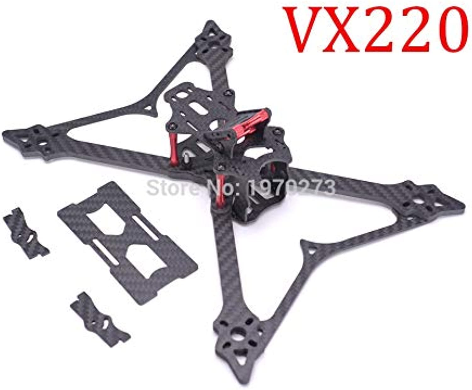 Laliva VX220 220mm Carbon Fiber Quadcopter Frame Kit Mini Four Axis Multi FPV Racing Drone with 4mm Thickness arm for QAVX 210 VX210