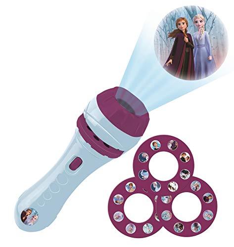 Lexibook, Frozen Taschenlampe und Projektor mit 3 Scheiben, 24 Bilder, erstellen Sie Ihre eigenen Geschichten, LTC050FZ