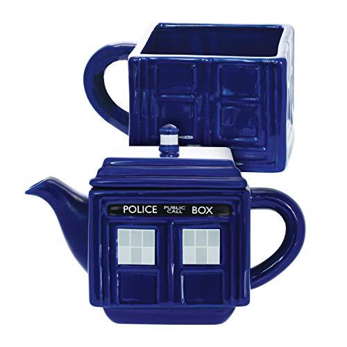 Underground Toys Doctor Who Tea-4-One Stacking Tardis Teapot & Cup Set