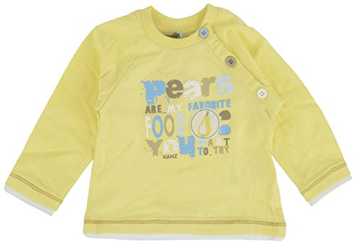 Kanz Kanz Baby - Jungen T-Shirt 1512441, Einfarbig, Gr. 74, Gelb (Pale Banana Yellow 4002)