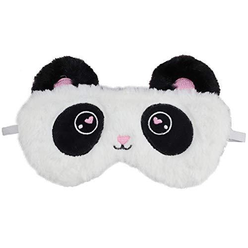 Schlafmaske, Panda, niedlich, 3D, weich, weich, Plüsch, für die Augen, atmungsaktiv, Kinder, Frauen, Reise, Geschenk