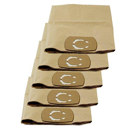 DeClean Staubsaugerbeutel Staubbeutel für Staubsauger Nass-Trockensauger 5 Stück Ersatz für Masko 1800 W 30 L