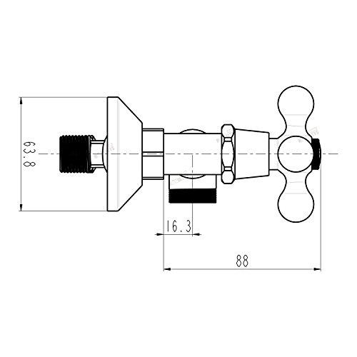 Trading Monkeys – Brausegarnitur mit Zweigriffmischer in Retro-Design, Chrom - 4