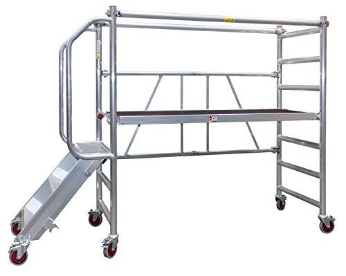 JUMBO Rollgerüst, Fahrgerüst mit Treppe und Geländer, NEU, Arbeitshöhe bis 3,0 Meter, TÜV/GS