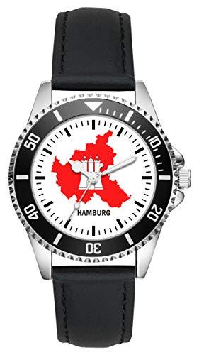 Hamburg Geschenk Artikel Idee Fan Uhr L-1100