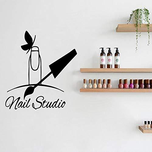 FOMBV Muursticker Nagellak schoonheid muur sticker manicure salon vinyl kunst lijm behang huisdecoratie
