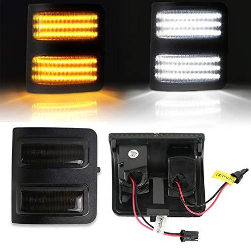 WPFC Geräucherte Objektiv Gelbe LED Seitenspiegel Marker Lampen, Für 2008-16 Ford F250 F350 F450 Super Duty, 2Stk