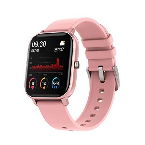 YANXS Reloj Inteligente con Pulsómetro, Cronómetros, Calorías, Monitor de Sueño, Podómetro Pulsera Actividad Inteligente Impermeable IP68 Smartwatch Hombre Reloj Deportivo para Android iOS,Rosado