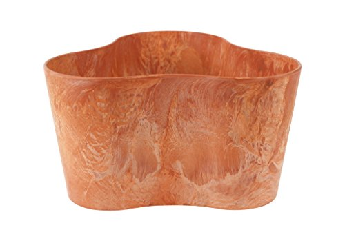 Artstone Vaso da fiori, per piante trio Claire, resistente al gelo e leggero, Terra, 20x11cm