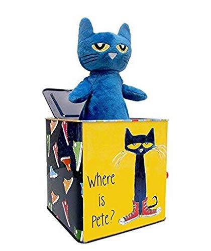 Pete The Cat Jack-in-The-Box - Musical Toy for Babies (Pop Goes The Weasel Jack In The Box)