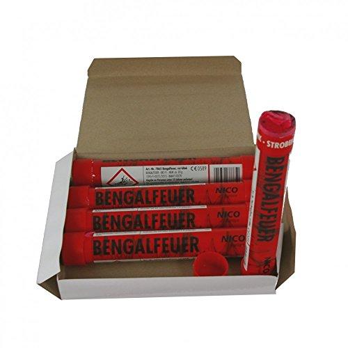 5 Bengalfackeln mit jeweils 40 Sekunden Brenndauer in verschiedenen Farben (Rot blinkend)