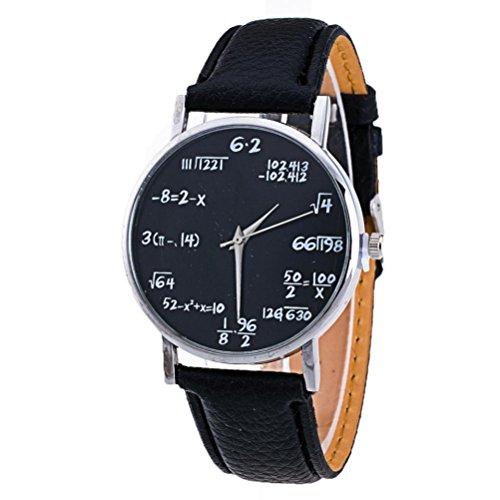 Xinantime Relojes Pulsera Mujer,Xinan Cuero PU Venda Relojes Analógicos del Cuarzo (Negro)