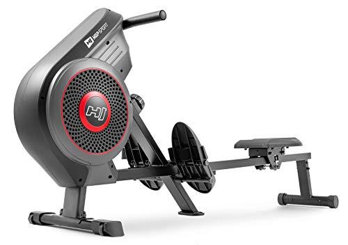 Hop-Sport Luft-Rudergerät HS-065AR Air Rower Brustgurt-kompatibel Rudergerät für Zuhause 8 Widerstandsstufen klappbar