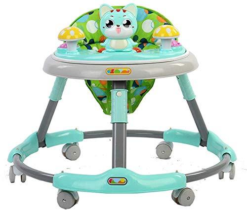 Baby Walkers Baby Dreumes First Steps Assistant Walkers for meisjes vanaf 6 maanden Boys Girls From, Green baby wandel speelgoed,loopstoeltje duw mee (Color : Green)
