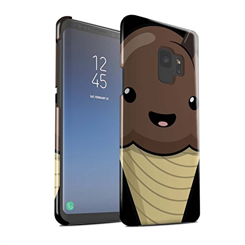 Stuff4 Phone Case/Cover/Skin/SG-3DSWG / Kawaii Food Collection Samsung Galaxy S9/G960 Chocolade ijs