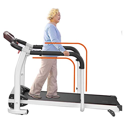 ZRXRY Elderly Treadmill Electric Foldable With 2 HP Motor, Heart Rate Monitor, Water Cup Holder For Training, Tablet Holder, Shock Absorption Silent,Three Slopes,120KG Load