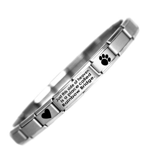 Daisycharm by JSC Rainbow Bridge armband roestvrij staal design om te herdenken aan het huisdier met Engelstalige opschrift eenheidsmaat