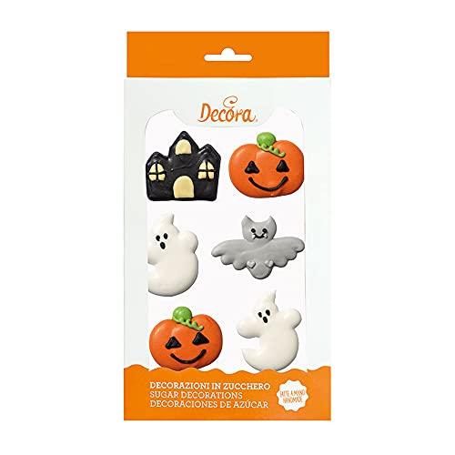 Dream' s Party Kit Decorazione Halloween in Zucchero - Castello, Fantasma, Zucca, Pipistrello - Decoro soggetti per Torte e Dolci