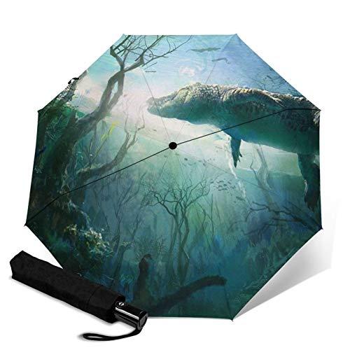 Crocodile,Folding Umbrella, Windproof, UV Protection, Compact Umbrella for Travel, Daily Use