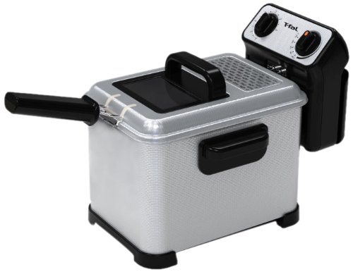 T-fal FR4046002 Filtra Pro 2.6-Pound / 3-Liter Deep Fryer with Stainless Steel Waffle and Filter Screen, Silver