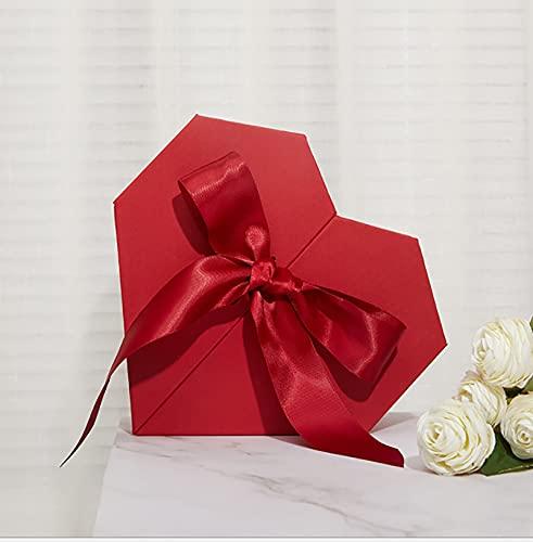 Caja de regalo de cumpleaños Caja vacía Caja de regalo de mano de acompañante del día de San Valentín Boda Dama de honor Chica Forma de corazón Caja de regalo de amor Caja de embalaje de oficina Papel