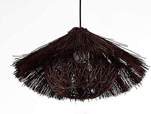 MKKM Moderno estilo pastoral ratán araña pájaro pájaro iluminación colgante luz creativa personalidad restaurante luz leche té tienda bar de casas de familia balcón colgando luz