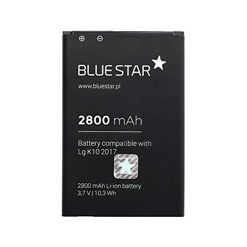 Blue Star Premium - Batería de Li-Ion Litio 2800 mAh de Capacidad Carga Rapida 2.0 Compatible con el LG K10 2017