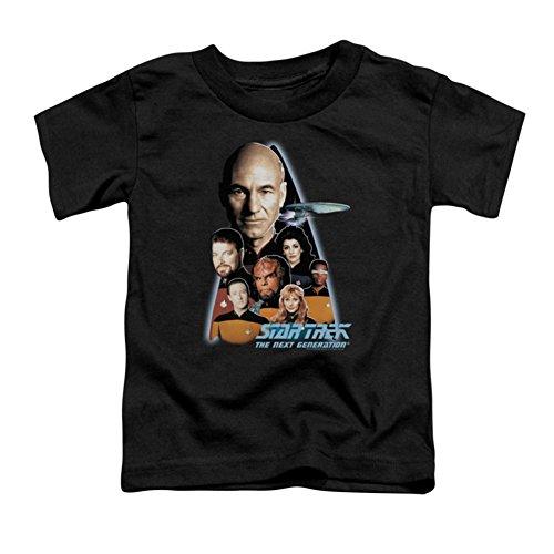 Star Trek - - Enfant Le T-shirt Next Generation In Black, 4T, Black