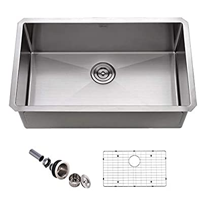 APPASO 30-Inch Single Bowl Kitchen Sink Undermount