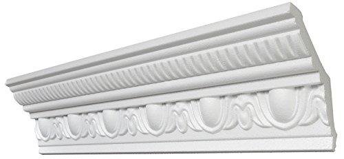 DECOSA Stuckleiste G38, 1 Leiste à 2 m Länge - Deckenleiste mit Stuckelementen aus Styropor